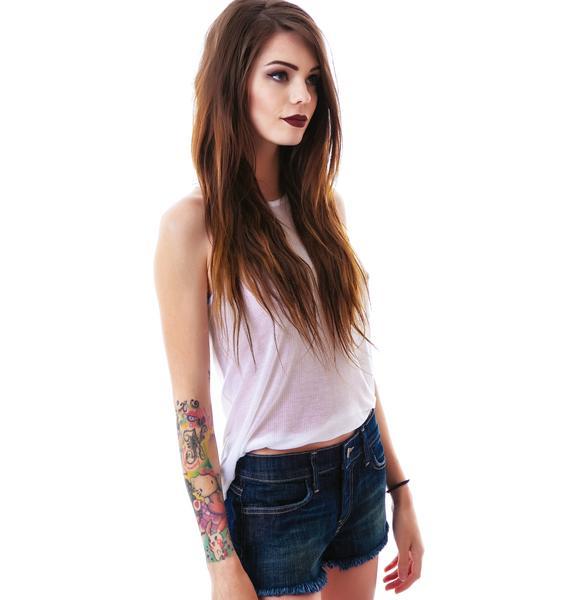 Wildfox Couture Breeze Lara Denim Shorts