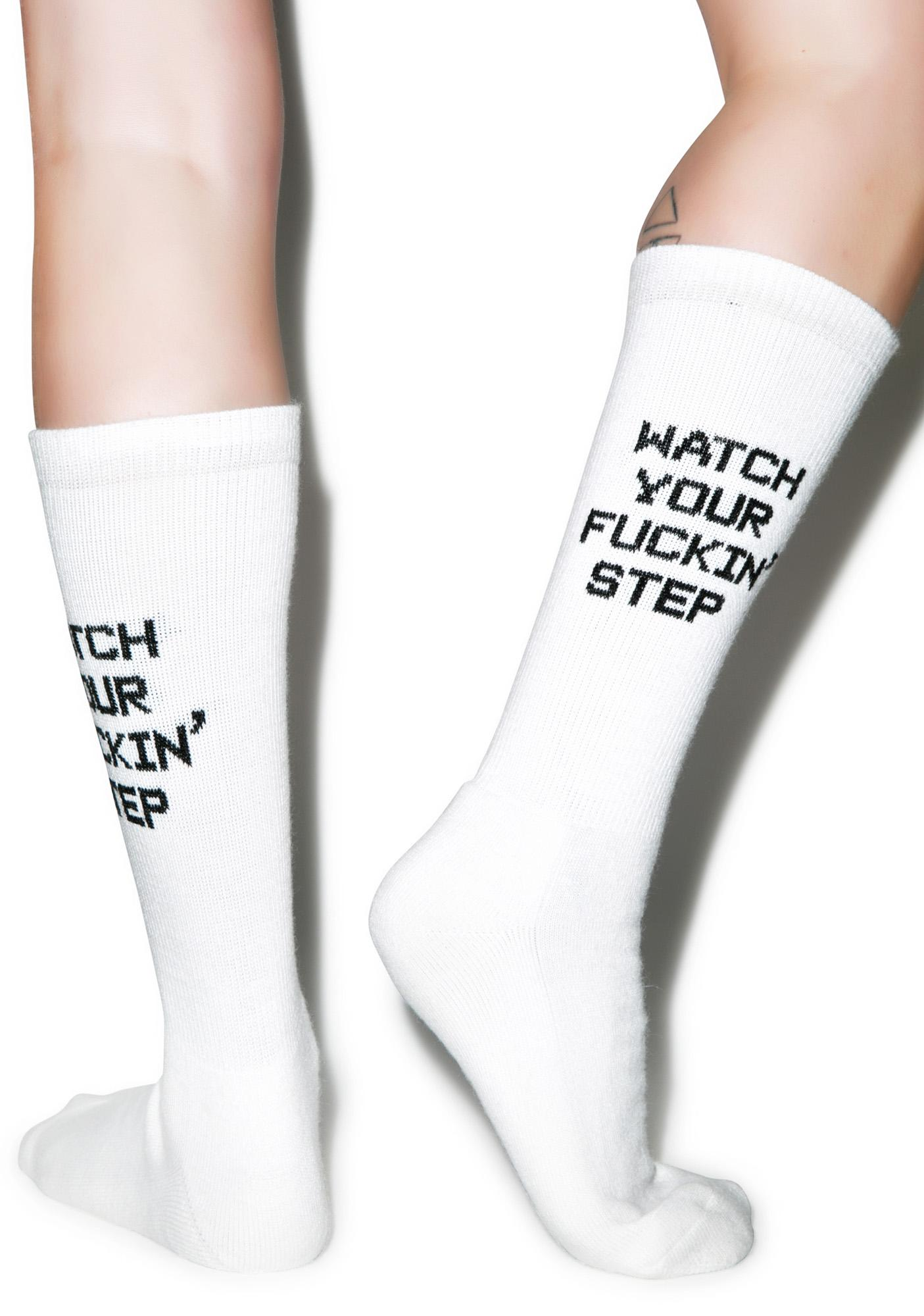 Danielle Guizio Watch Your Fucking Step Socks
