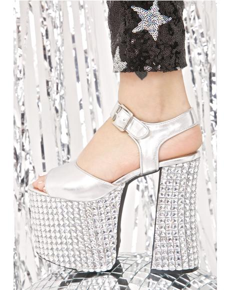 Death By Disco Platform Heels