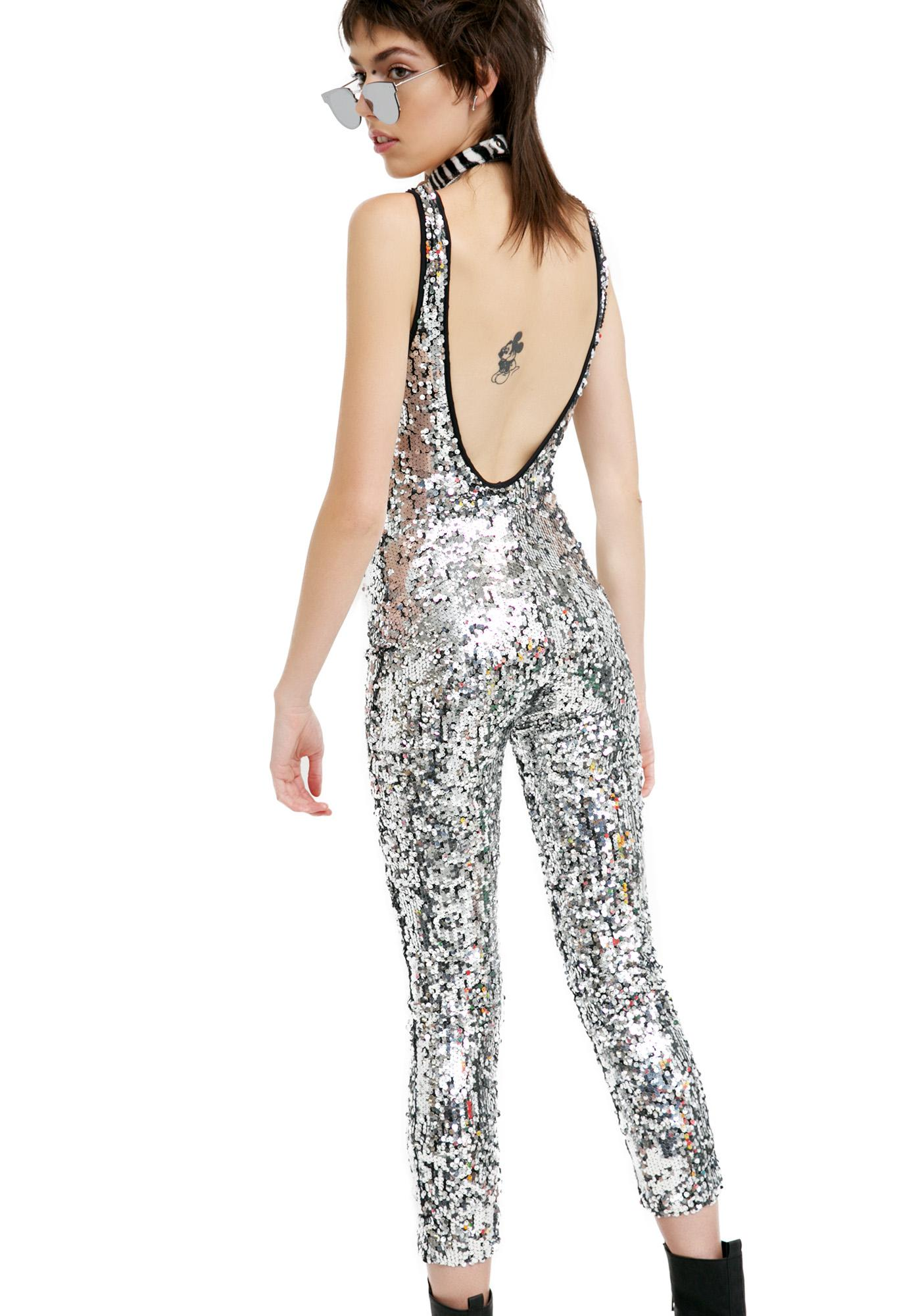 Silver sequin jumpsuit 120 00 120 0000 jaded london silver sequin