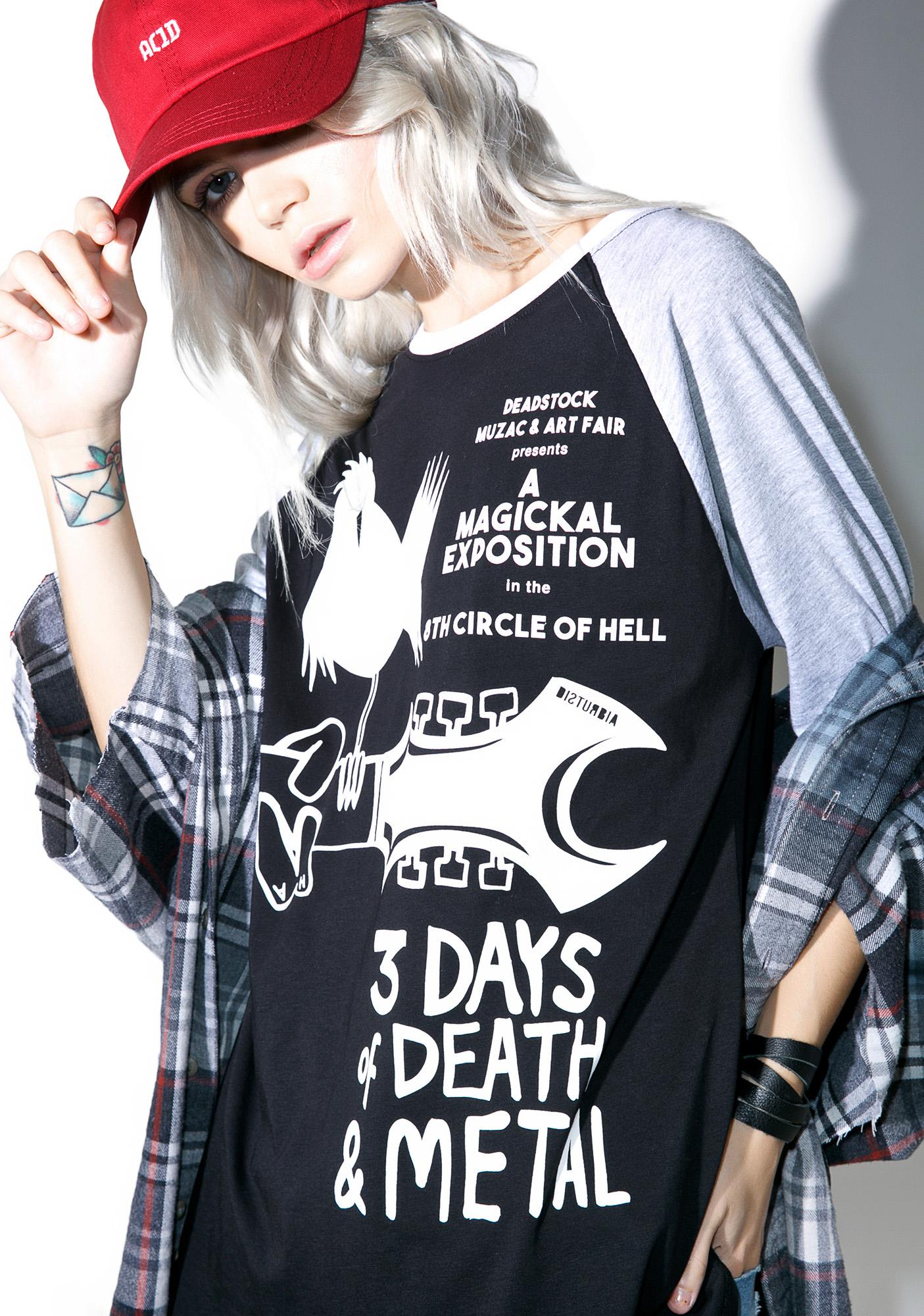 Disturbia Death Stock Raglan Tee