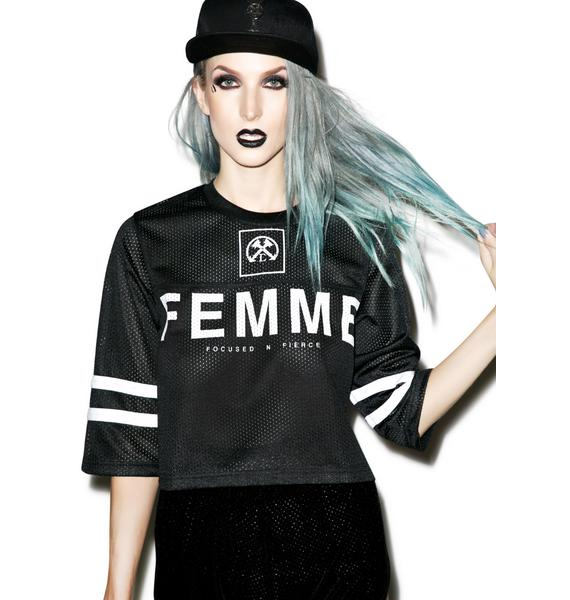 Civil Clothing Le Femme Crop Jersey