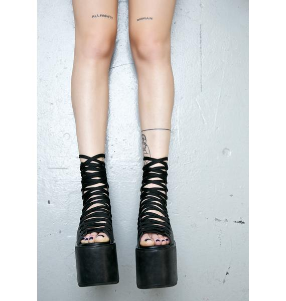 Current Mood Chaz Lace Up Flatforms