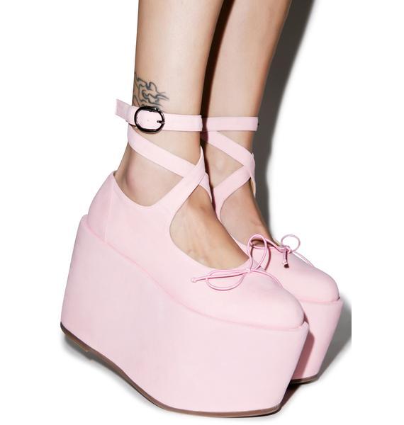 Sugarbaby Ballet Bopper Blush Platforms