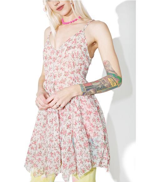 Fallin' Petals Slip Dress