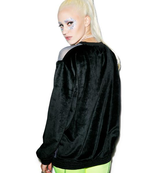 Coveted Society Space Trip Neon Low-Lah Crewneck