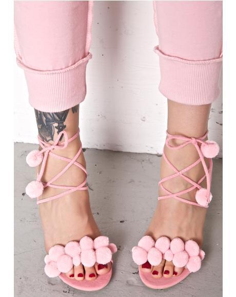 Material Gurl Pom-Pom Heels