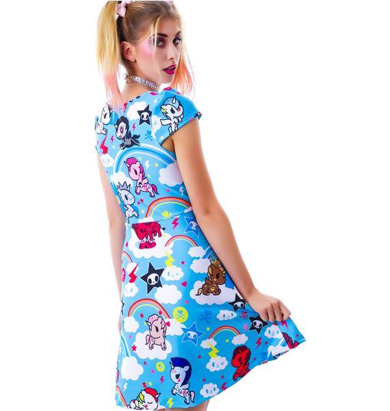Japan L.A. Tokidoki Unicorno Cap Sleeve Dress