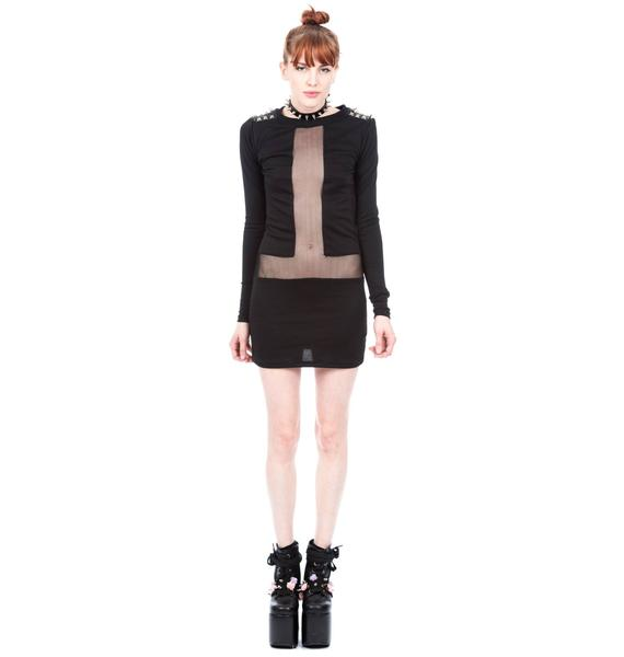 Coveted Society Studs and Spikes Dress