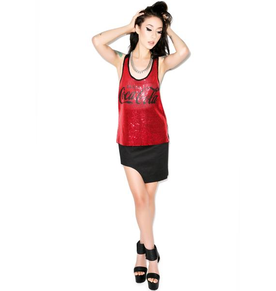 Drink Coca Cola Sequin Tank