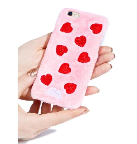 Local Heroes Red Hearts Fuzzy iPhone 6 Case