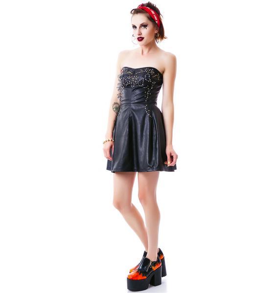 Hellion Studded Tube Dress