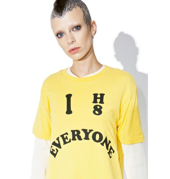 Burger And Friends I Hate Everyone Tee