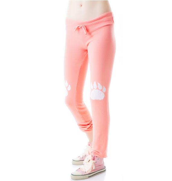 Wildfox Couture Paws Malibu Skinny Sweats