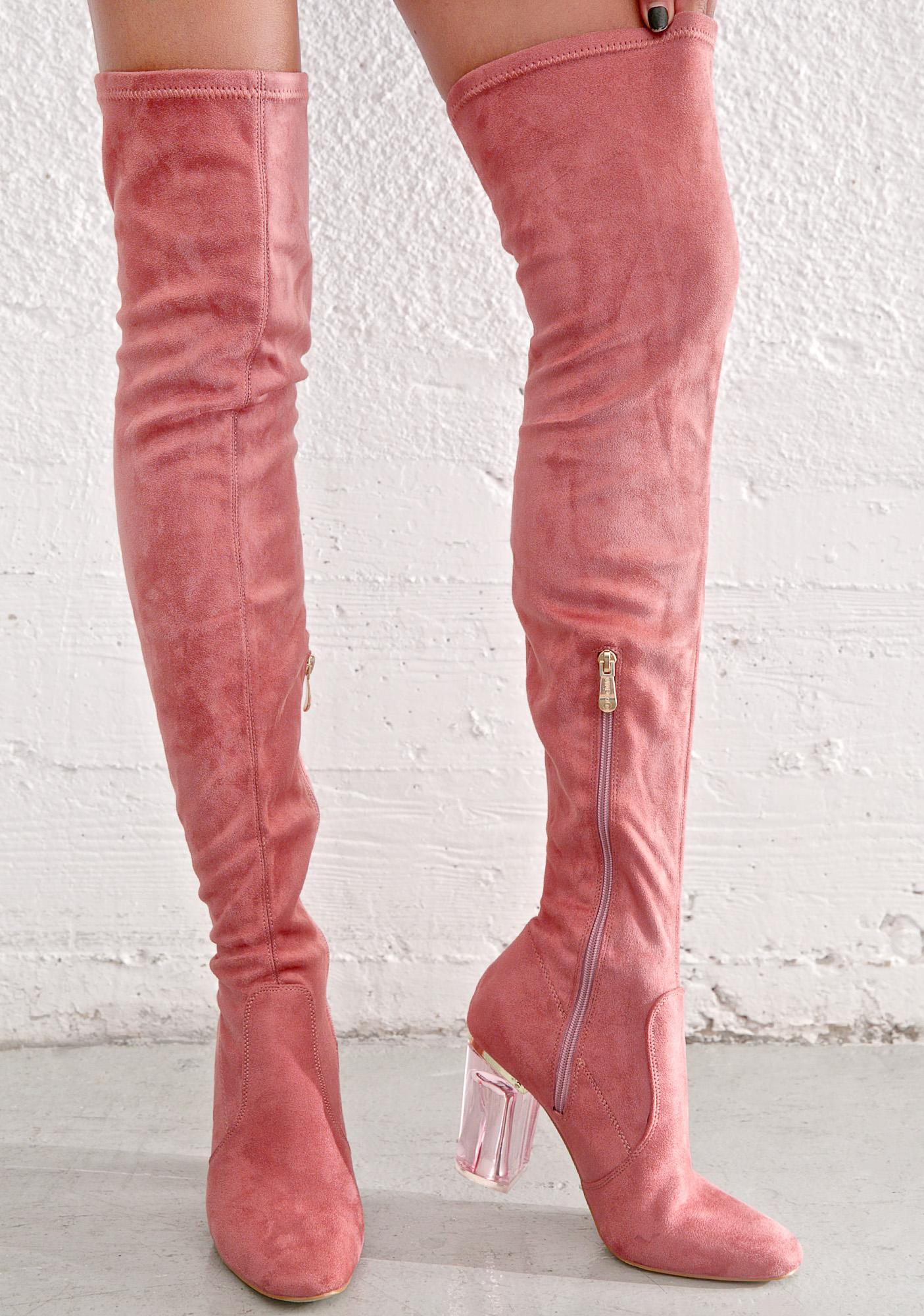 Rose Neptune Thigh-High Boots