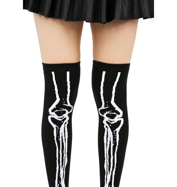 Killstar Morgue Over The Knee Socks