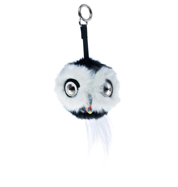 Whata Hoot Fluffy Keychain