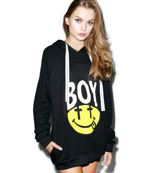 BOY London United Boy Black Acid Beanie Hoodie
