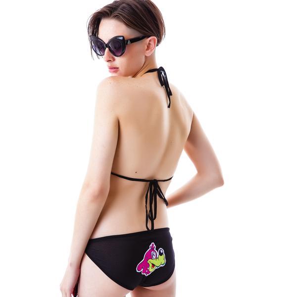 Coveted Society Worped on Acid Mesh Bikini