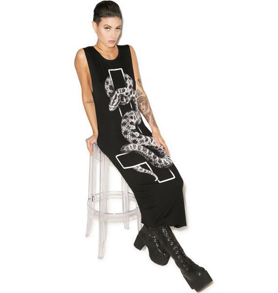 Killstar Serpent Maxi Dress