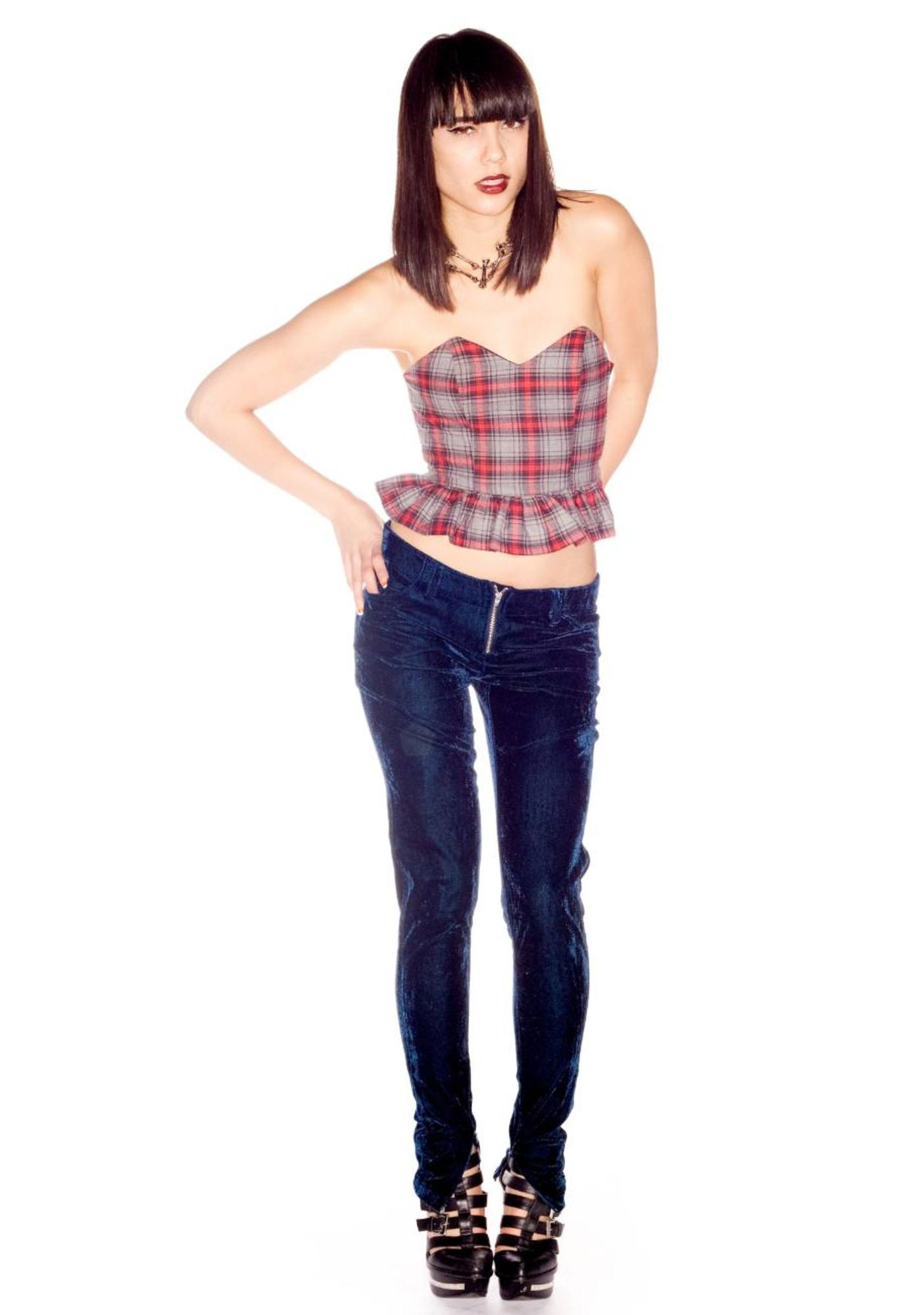 Minnie Mortimer Plaid Corset Top