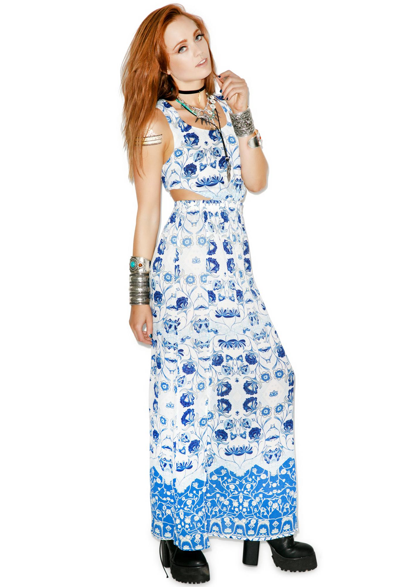 Mink Pink Oceans Edge Maxi Dress