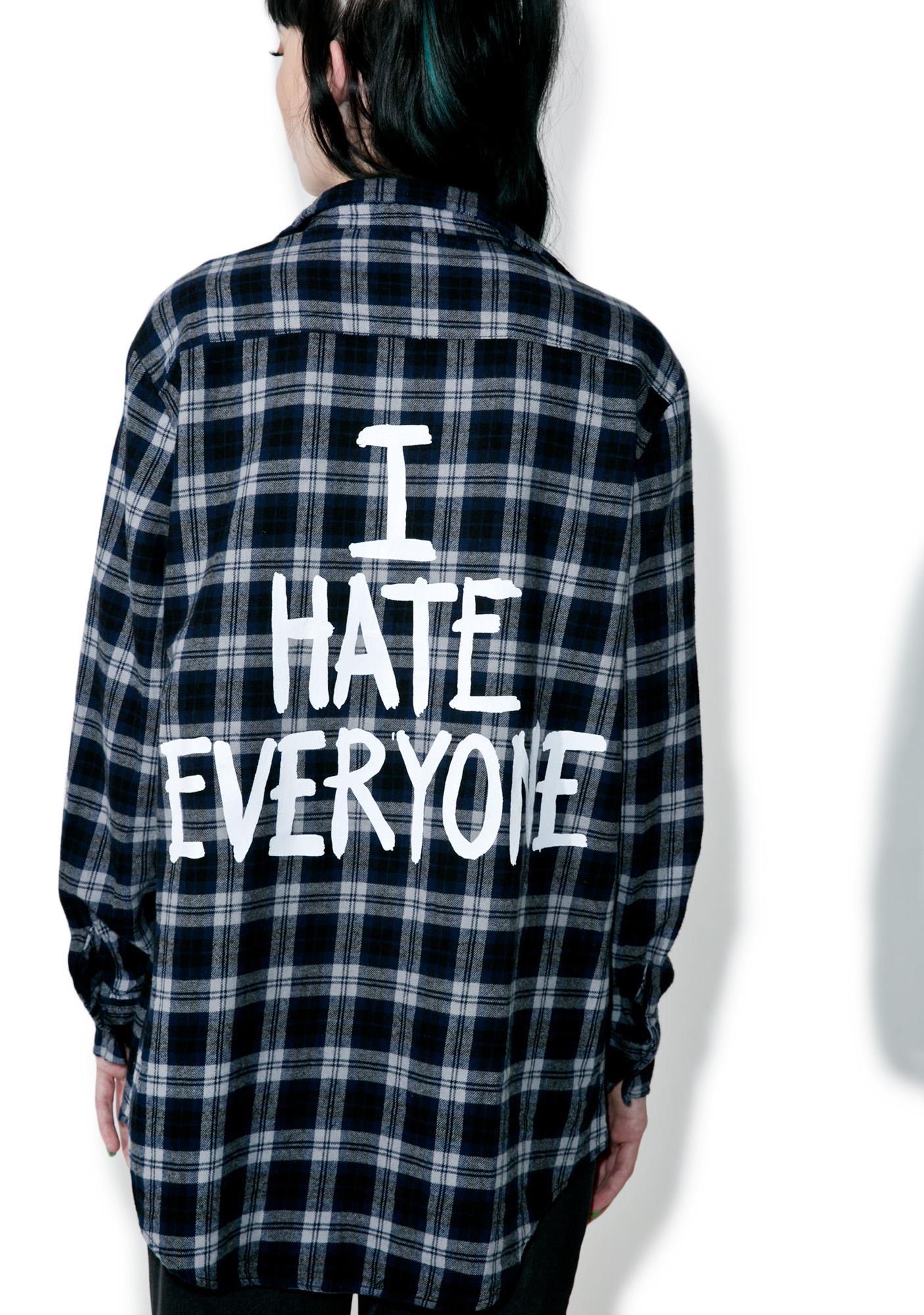 Jac Vanek I Hate Everyone Flannel