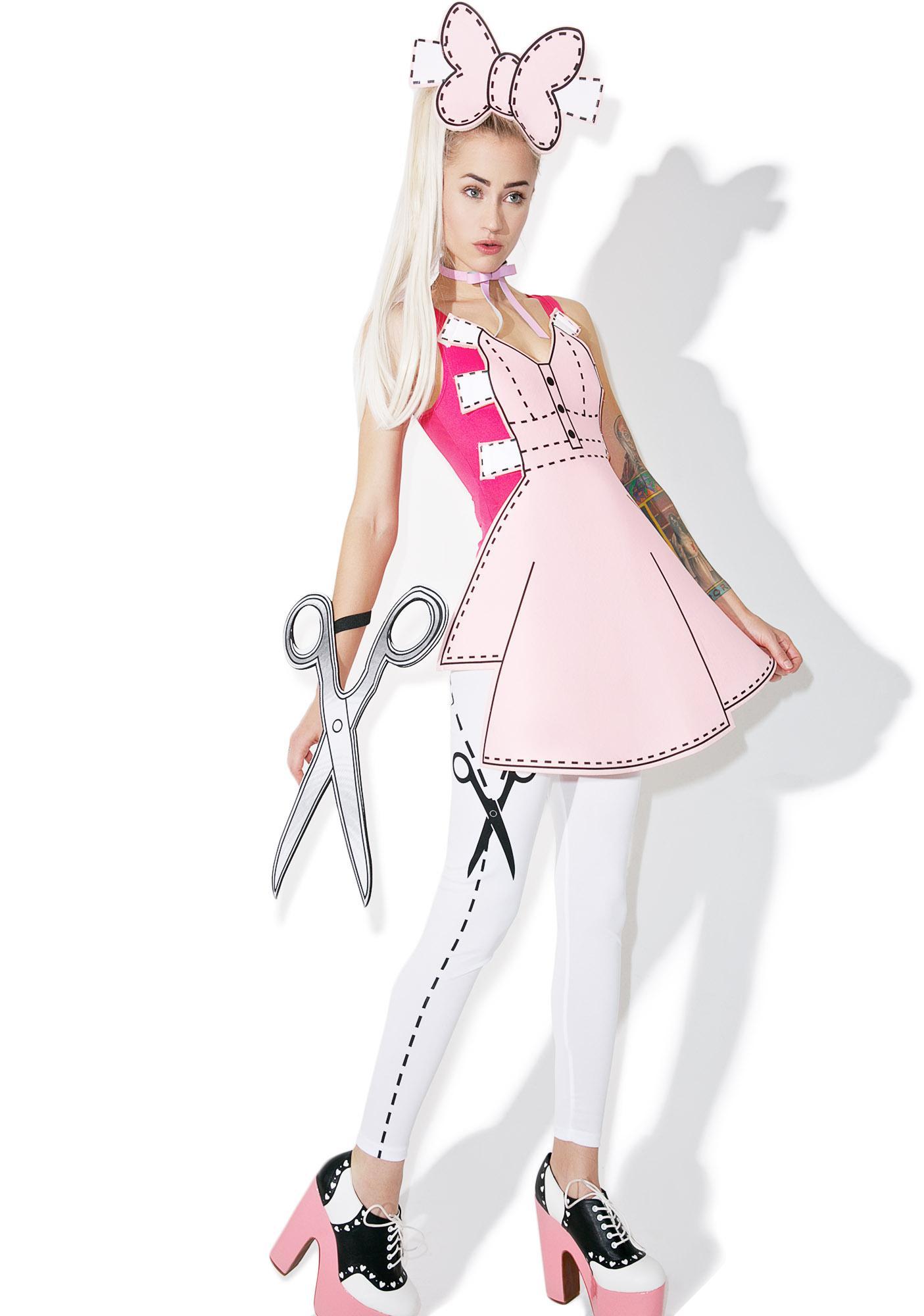 Pretty Paper Doll Costume