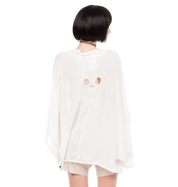 One Teaspoon Bone Yard Lace Kimono
