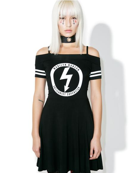 Gloom Bardot Cheerleader Dress