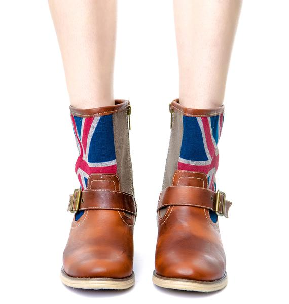 Hello Brit Buckle Boots