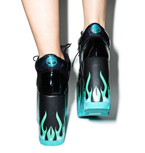 Y.R.U. Qozmo Lo Heat Platform Sneakers