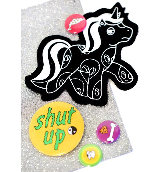 Indyanna Alien Pony Patch 'N Pin Set