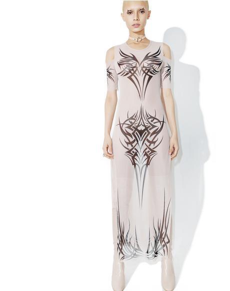 Phenomenon Tattoo Maxi Dress