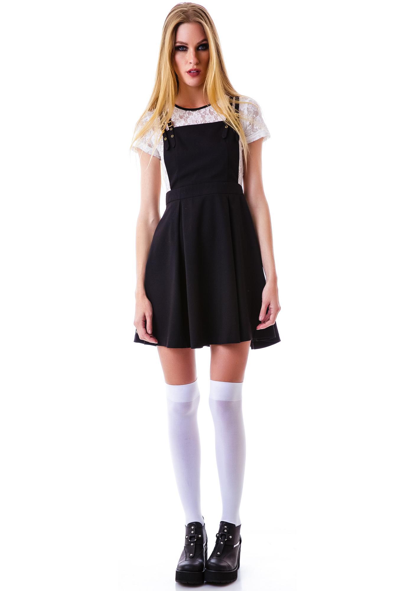 Zoe Lace Suspender Dress