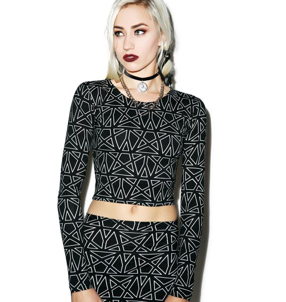 Motel Pentagram Bonnie Crop Top