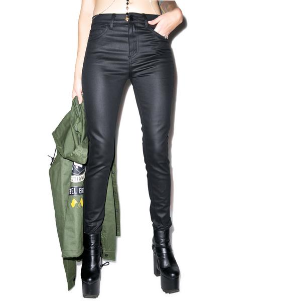 Lip Service Coated High Waisted Skinnies