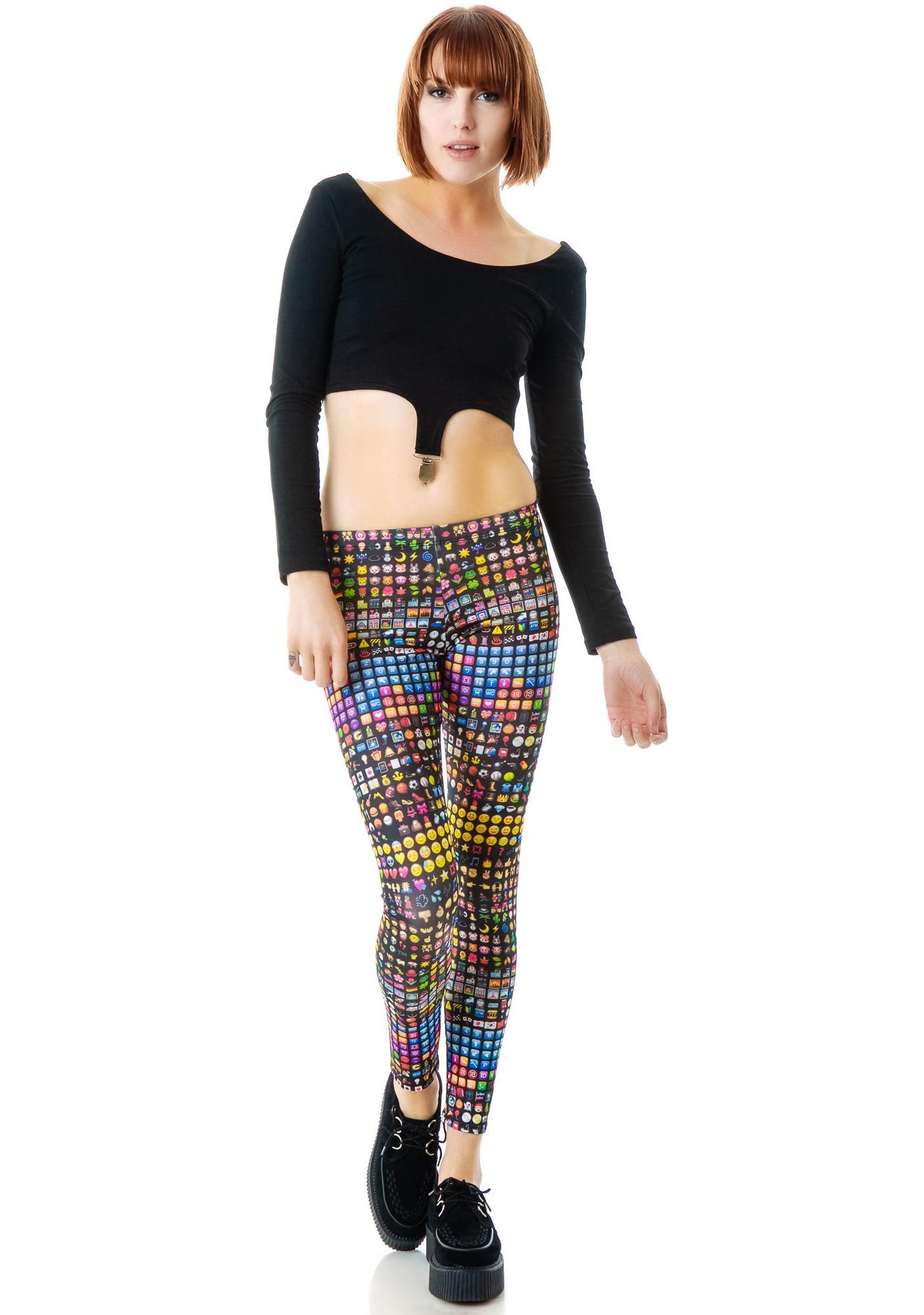 Zara Terez Emoji Leggings | Dolls Kill