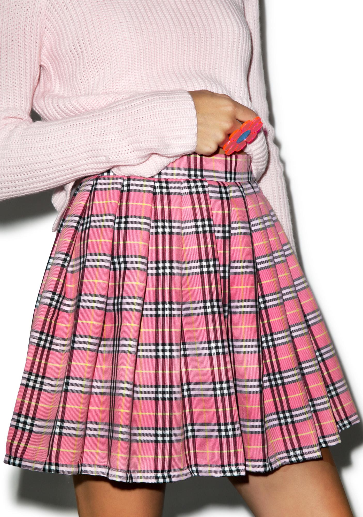 Reality Bites Baby Plaid Skirt