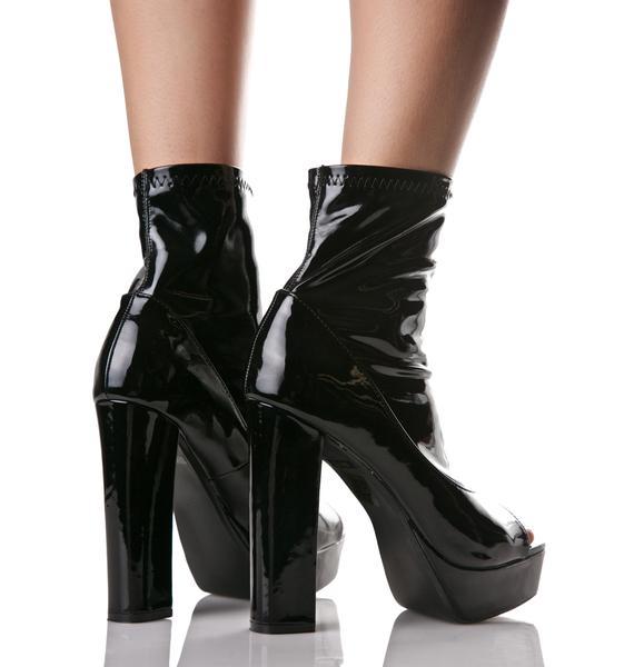 Eclipse Peep-Toe Boots