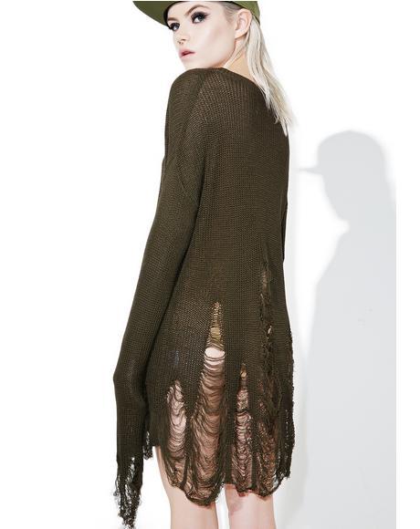 Mugwort Destroyed Sweater
