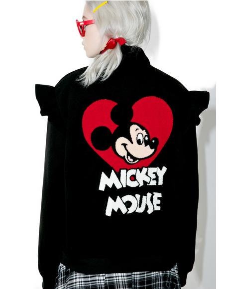 X Disney Mickey Mouse Bomber Jacket