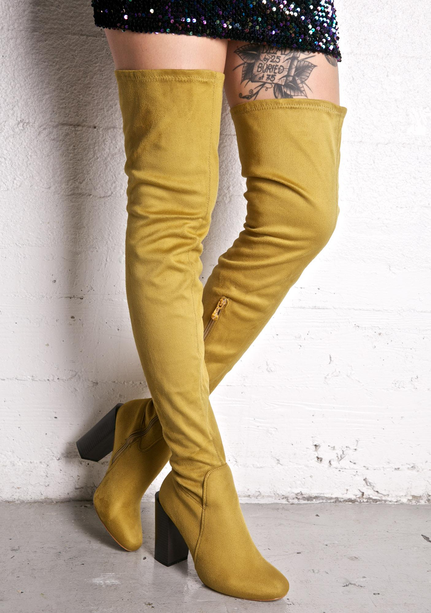 Sage Confessions Thigh-High Boots