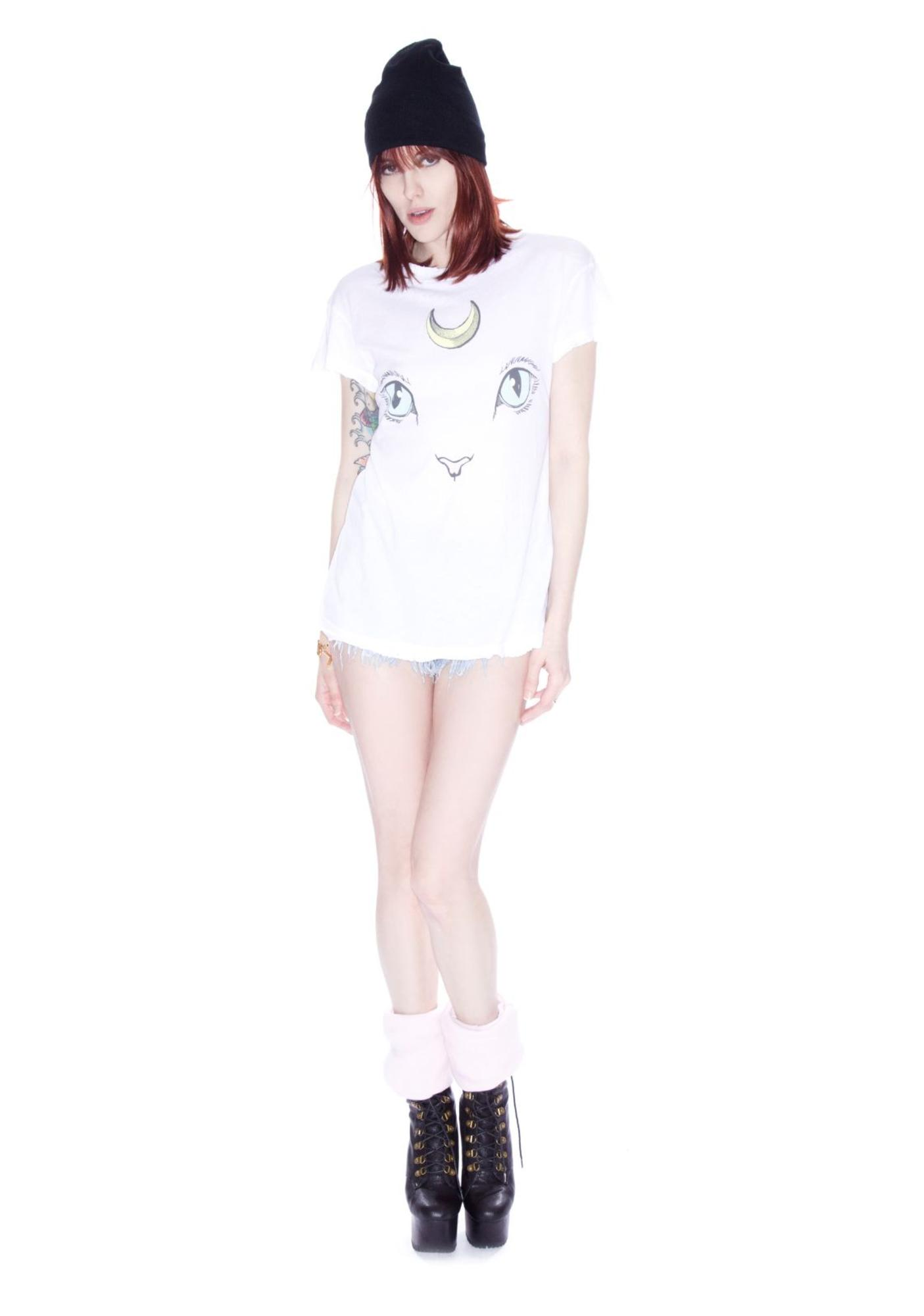 Wildfox Couture Cat and Moon Desert Crew