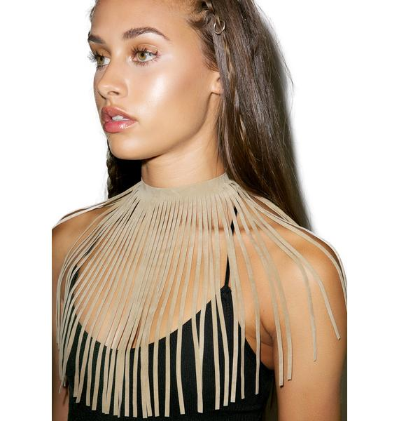 Desert Palms Fringe Necklace