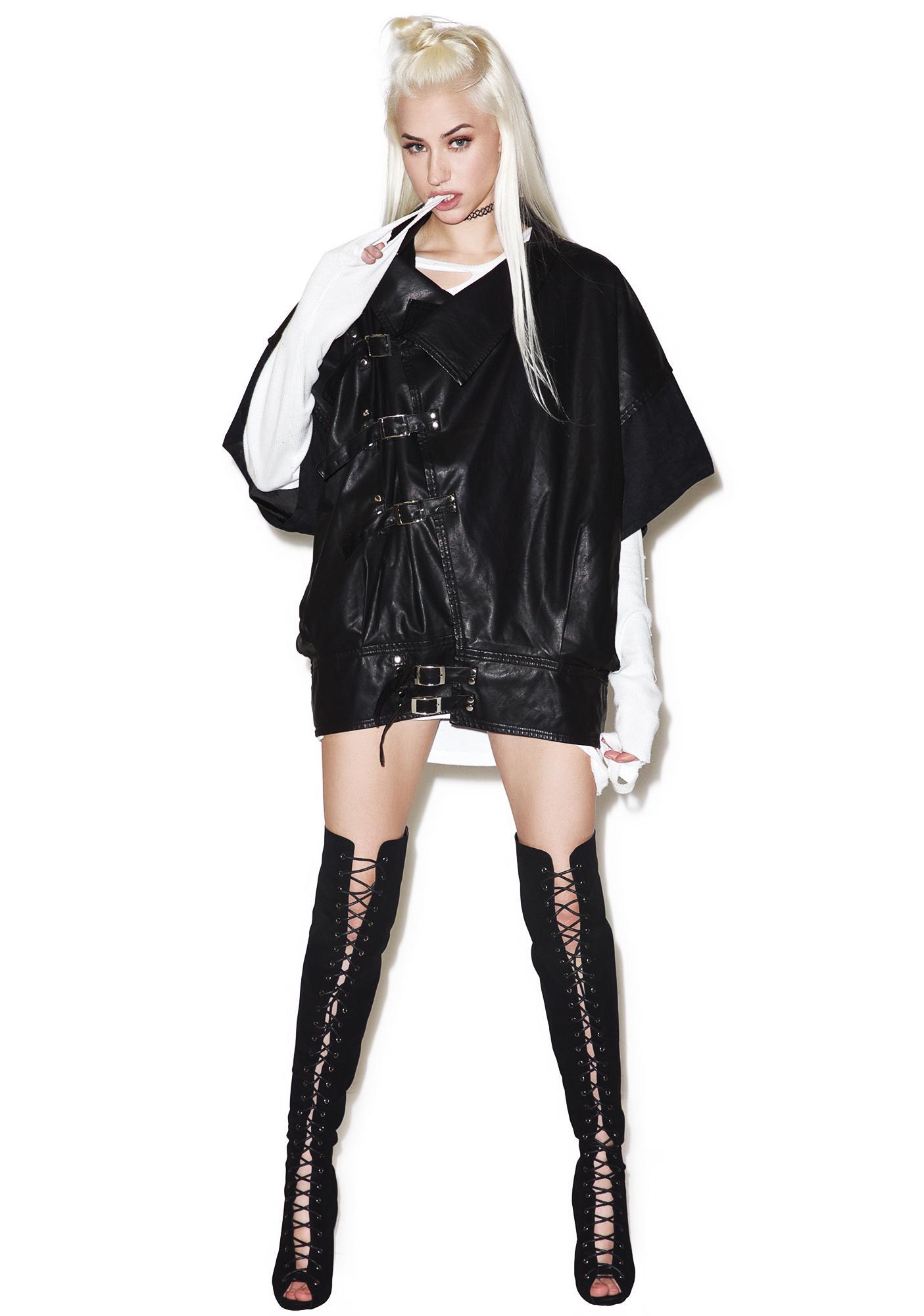 Widow Cold War Oversized Vegan Leather Jacket