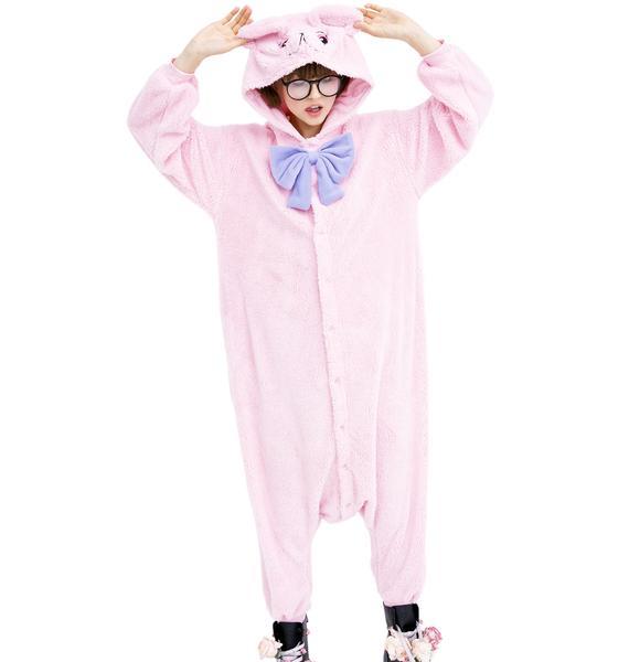 Sazac Pink Teddy Bear Kigurumi