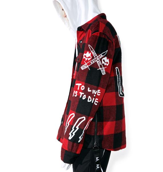 Haculla Punkwork Button-Up Overshirt