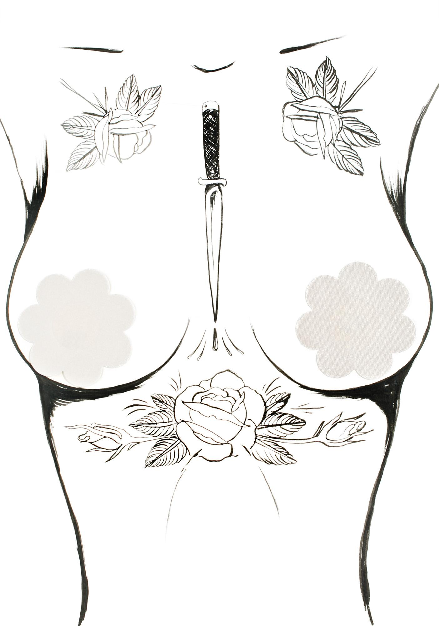 Sleek Curves Petal Pasties