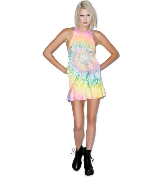 UNIF Tie Dye Bloom Dress